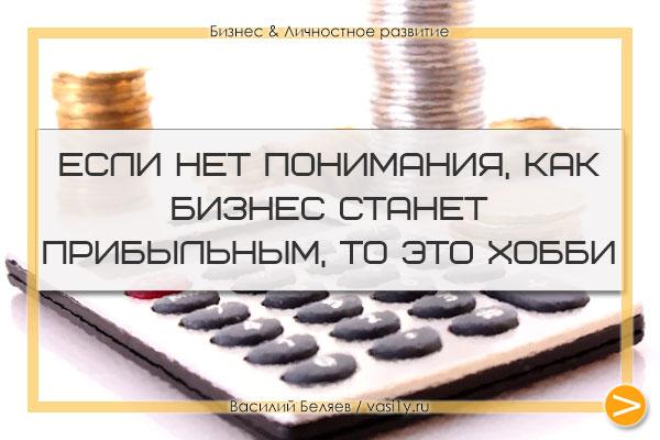 Если нет понимания, как бизнес станет прибыльным, то это хобби