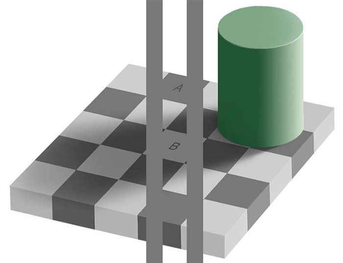 Эффект Безольда клетки шахматной доски 2