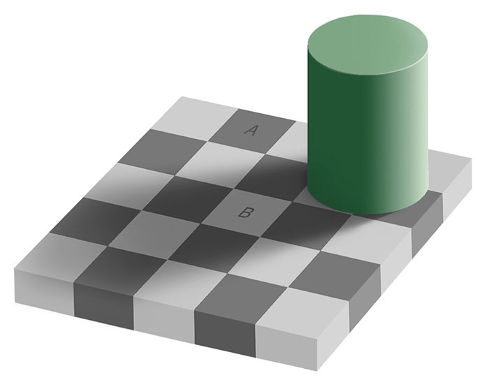 Эффект Безольда клетки шахматной доски