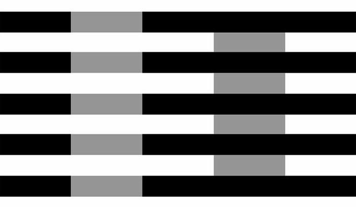 Эффект Безольда серые полосы